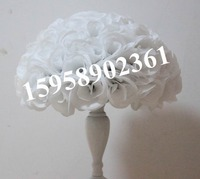 40cm plastic center white artificial flowers ball,wedding flower,holiday decoration