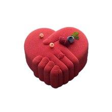 Love Heart Silicone Cake Mold Romantic Peace Hand Shape Chiffon Sponge Mousse Desserts Pastry Baking Pan Mould