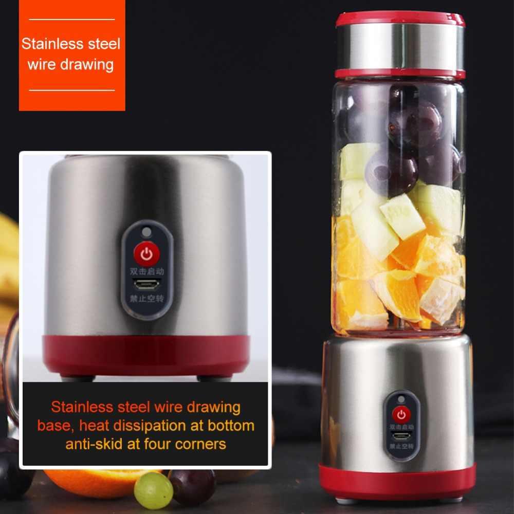 Mini Elétrico Recarregável USB Portátil Suave Liquidificador Fabricante de Frutas Extrator De Suco De Laranja Espremedor de Limão Juicer Copo Shaker 500 ml