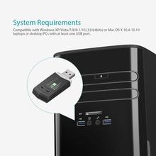 N300 Wireless-N Wireless Network USB 2.0 WiFi Adapter Wi-Fi Dongle 2.4 GHz 300 Mbps Support Windows XP/Vista/7/8/8.1/10/Mac PC