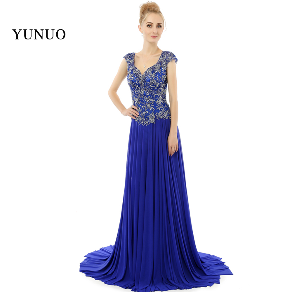 418ad20cc6 Elegancka Sukienka Na Studniówkę Długie Aplikacje Top Cap Sleeve Powrót  Hole V-Neck x08245 Floorlength Party matki Sukienki Plus Size