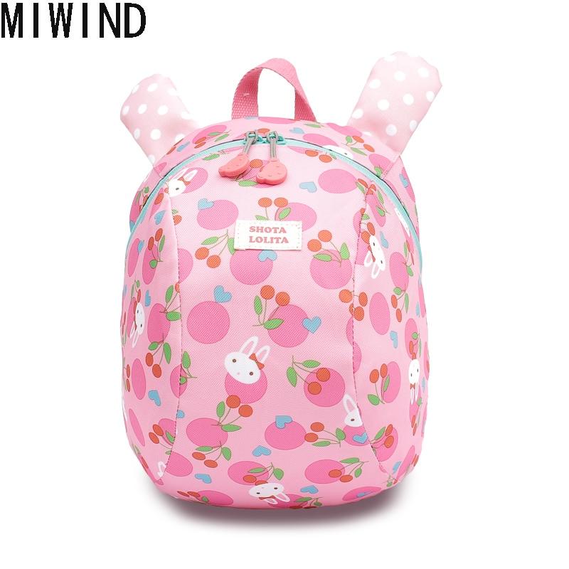 Age 1 3 6 Toddler backpack Anti lost kids baby bag cute Cartoon children backpacks kindergarten school bag TBX1213