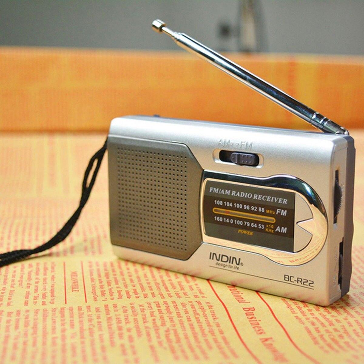 2018 Apleok BC-R22 Portable AM FM Radio Receiver Built in Speaker with Standard Earphones Jack Mini Radio