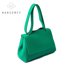 fashion flap shoulder bags women travel crossbody bag unisex solid handbag cover Versatile simple style Clemence leather 2 size