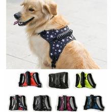 K9 Hund sele med handtag Nylon Reflekterande safty Andas starka justerbara draghjulstillbehör små till stora hundvästar