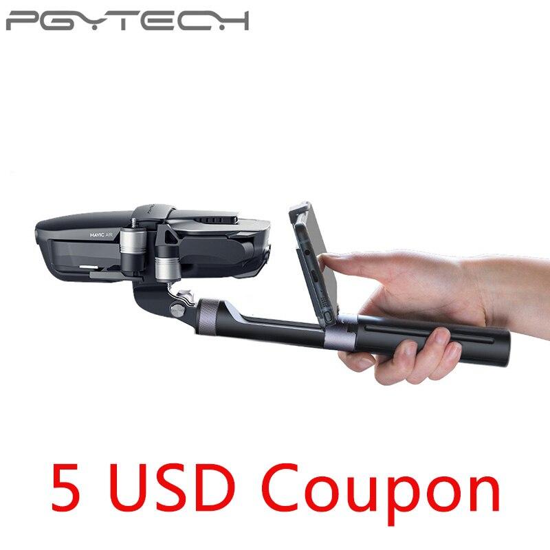 В наличии PGYTECH Mavic Air Ручка штатив Gimbal ручной PTZ стабилизатор держатель для экшн-камеры поездки для DJI Мавик воздуха аксессуар