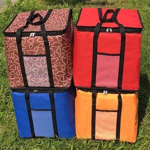 Image 5 - 14 بوصة كبيرة الحرارية حقيبة لتوصيل البيتزا سميكة حقيبة للحفاظ على البرودة معزول البيتزا حقيبة التخزين الطازجة الغذاء تسليم الحاويات 45x45x40 سنتيمتر