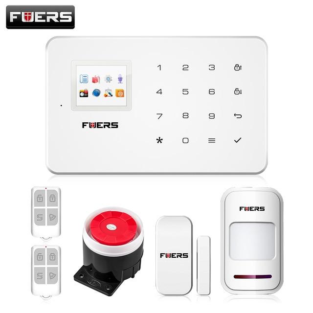 Fuers G18 Wireless Home GSM Security Alarm System DIY Kit APP Control Door Sensor Motion Detector