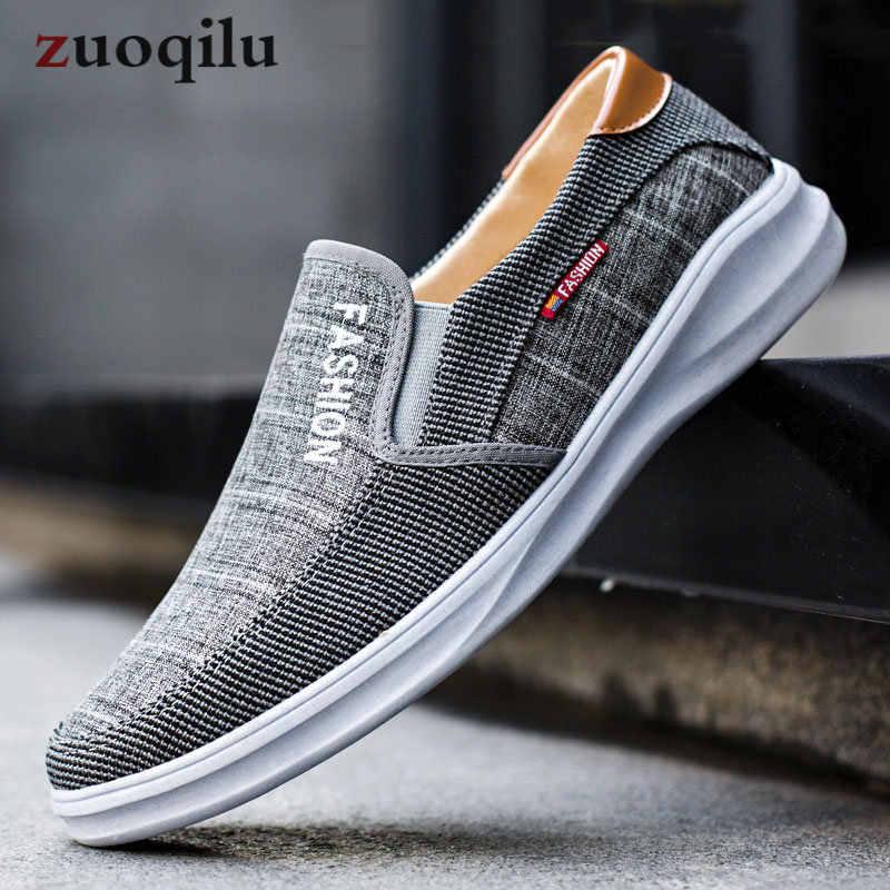 Breathable Mens Shoes Canvas Shoes