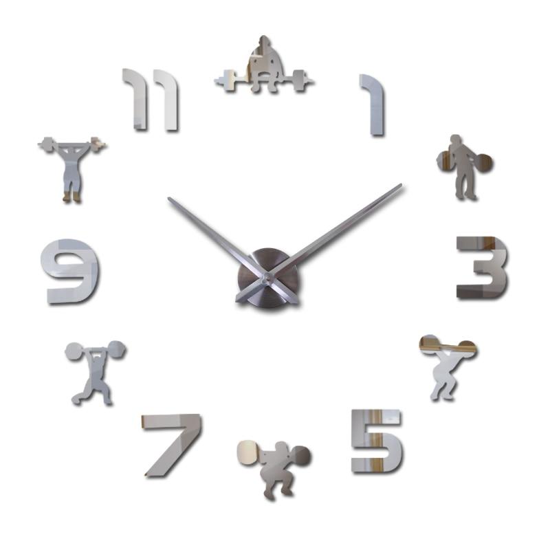 Fashion New 3D Wall Clock Quartz Watch Reloj De Pared Modern Design Large Decorative Clocks Europe Acrylic Mirror Stickers