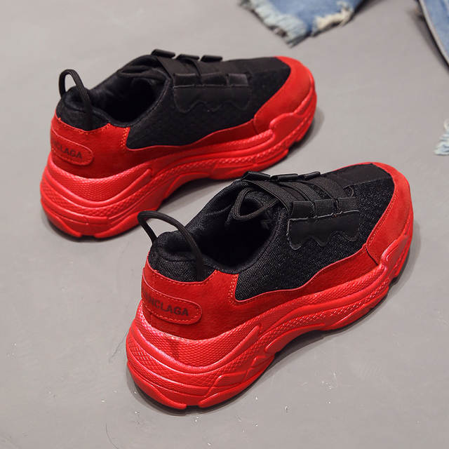 super popular 85590 806a3 ladies trainer Women's Vulcanized Shoes red bottom sneakers women sneakers  shoes tenis feminino basket shoes woman shoe female
