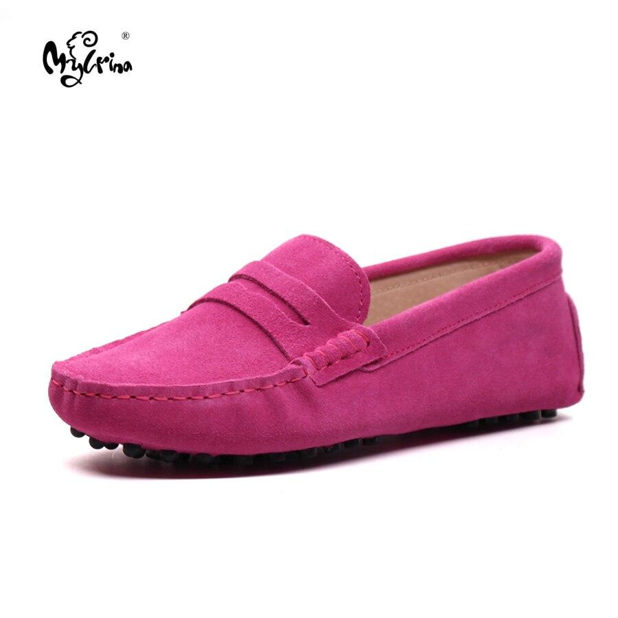 Mylrina Обувь Для женщин 100% Обувь из натуральной кожи на плоской подошве Повседневные лоферы; женские туфли на плоской подошве; без шнуровки же...