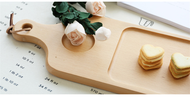 Beech Wood Multi-Use Cutting Board/Chopping Block Baking Tool Pizza Peel Pizza Pad Eco Natural Wooden Fruits/Sushi/Cake Plate