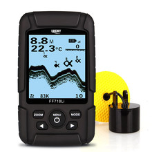 LUCKY FF718LiD-T Real-waterproof Fish Finder 200KHz/83KHz Dual Sonar Frequency 100M Detection Muti-language Depth Alarm Detector