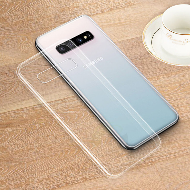 Keajor Fashion Case For Samsung Galaxy S10 Case Transparent Soft TPU Silicone Back Cover For Samsung Galaxy S10+ S10 Plus S10e