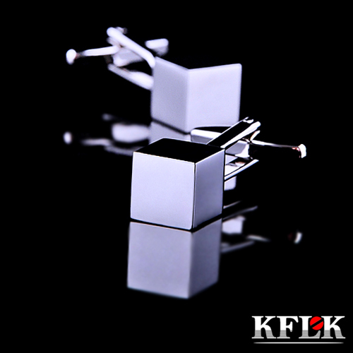 KFLK 2018 Luxury HOT shirt cufflink for mens Brand cuff button Silver cuff link High Quality Stereo gemelos abotoadura Jewelry