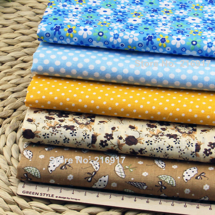 5pcs plain floral cotton printed fabrics patchwork 100 for Bulk sewing material
