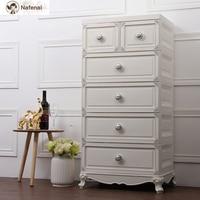 European style Chest of drawers Plastic storage organizer box Cabinet household Furniture office storage storage box large