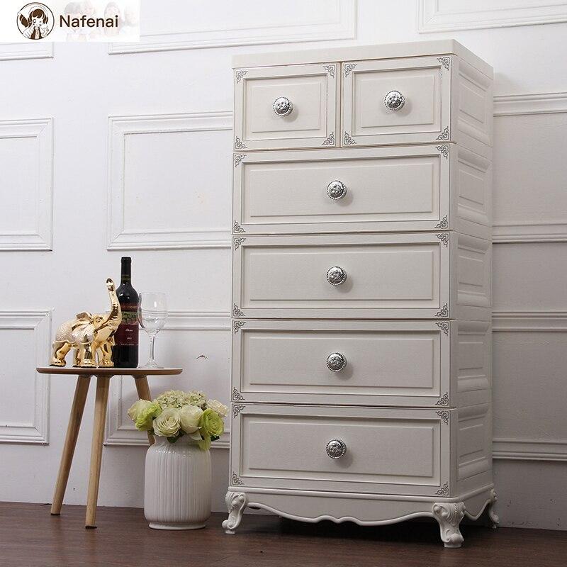 Style européen commode en plastique rangement organisateur boîte armoire meubles de ménage bureau rangement boîte de rangement grand