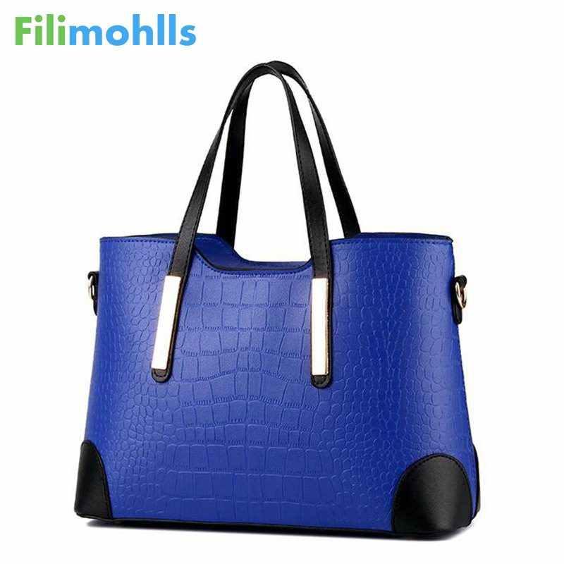 cfb8705edfa ... Vintage Women Messenger Bags Shoulder Handbag Purse Wallet Leather  Handbags Women Bag Crocodile Pattern Composite Bag ...