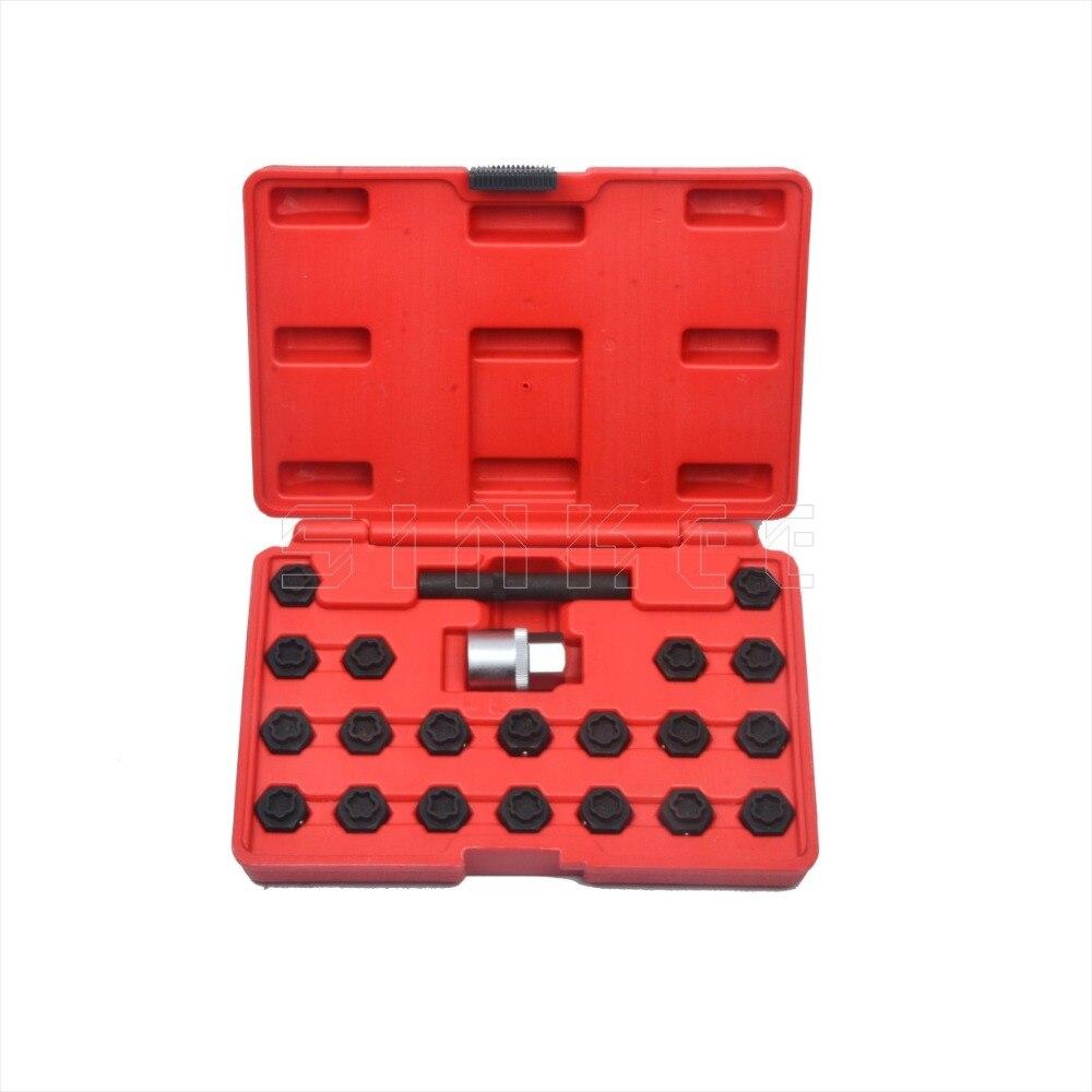 цена на 22pc Locking Wheel Nut Key Socket Set For BMW 1 3 4 5 6 7 Series 1/2 Drive