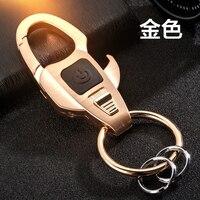 Hommes d'affaires de Zinc Alliage cas de clés de voiture clé De Voiture homme femme taille accrocher acier inoxydable porte-clés couple porte-clés creative avec lampe