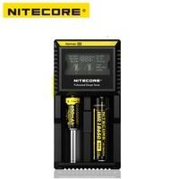 Nitecore D2 Carregador com Display LCD Carregador de Bateria Inteligente Universal Para 18650 Baterias IMR/Li ion/LiFePO4/Ni MH /Ni Cd Acessórios portáteis de iluminação     -