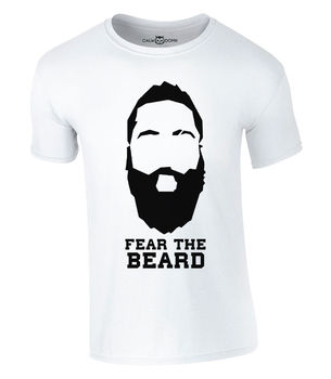 Fear The Beard T-Shirt 2017 New James T Shirt New Summer Printed Unisex Fashion T Shirt Funny Tops Tee Shirts