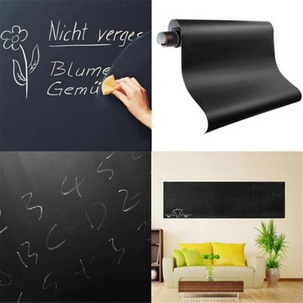 60x200cm Chalkboard Blackboard Stickers Removable Vinyl Draw Erasable Blackboard Learning Multifunction Office