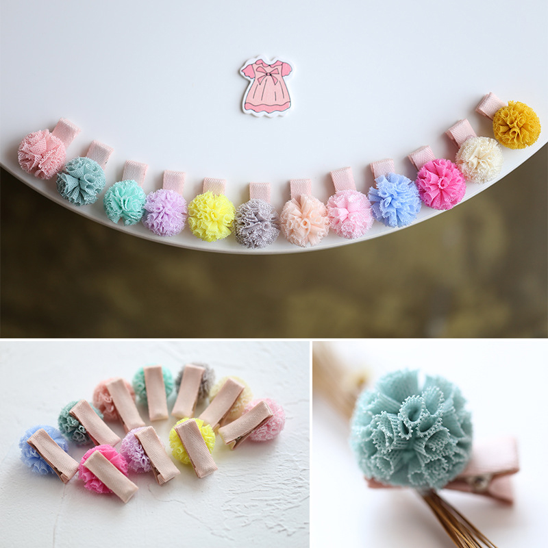 Korean Style New   Headwear   children's hair accessories yarn hairpin baby hairpin hair for baby girl wholesale dropshipping