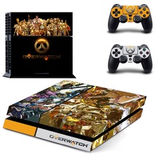Game for Overwatch PS4 Skin Sticker Decal Vinyl for Sony Playstation 4 Console and 2 Controllers PS4 Sticker