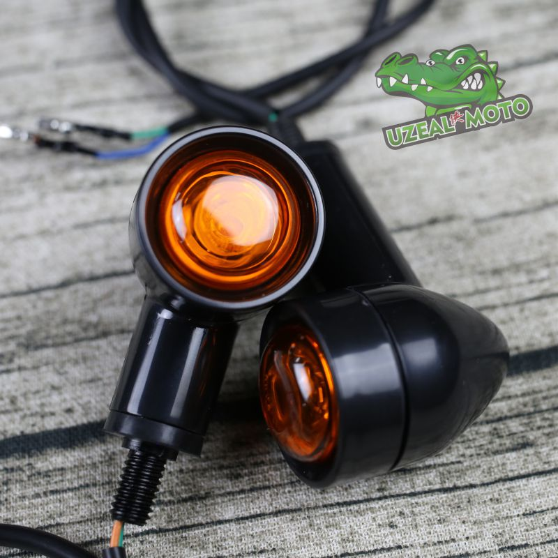 Universal Vintage Calssic Motorcycle Custom LED Turn Signal Light Cornering Lamp Turn Light Steering Lamp Direction Indicator