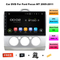 Quad Core 2 Din 10 1 Android 5 1 Car Radio DVD Player For Ford Focus