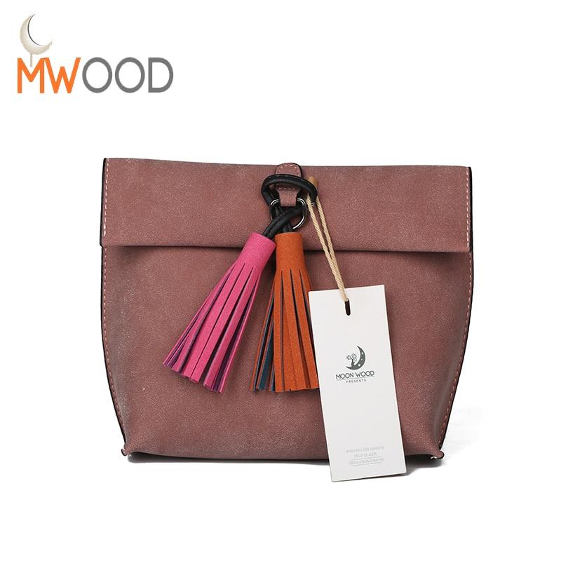 Women Scrub Leather Tassel Crossbody Bag Girls Fashion Brand Colorful Strap Shoulder Bag Female Designer Handbag Feminina Bolso