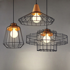 vintage Loft style pendant lights nordic retro Bar Coffee Shop fixture metal lampshade industrial lighting cage pendant lamp