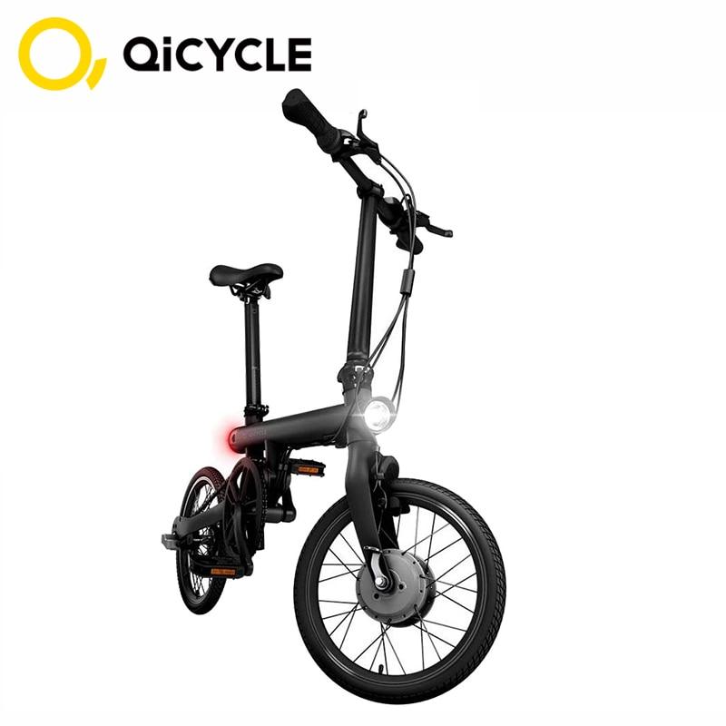 D'origine Mijia QiCYCLE vélo électrique EF1 Mini Électrique Ebike 16 Pouces Puce Vélo Pliant Smart Vélo capteur de couple Cyclomoteur Xiaomi