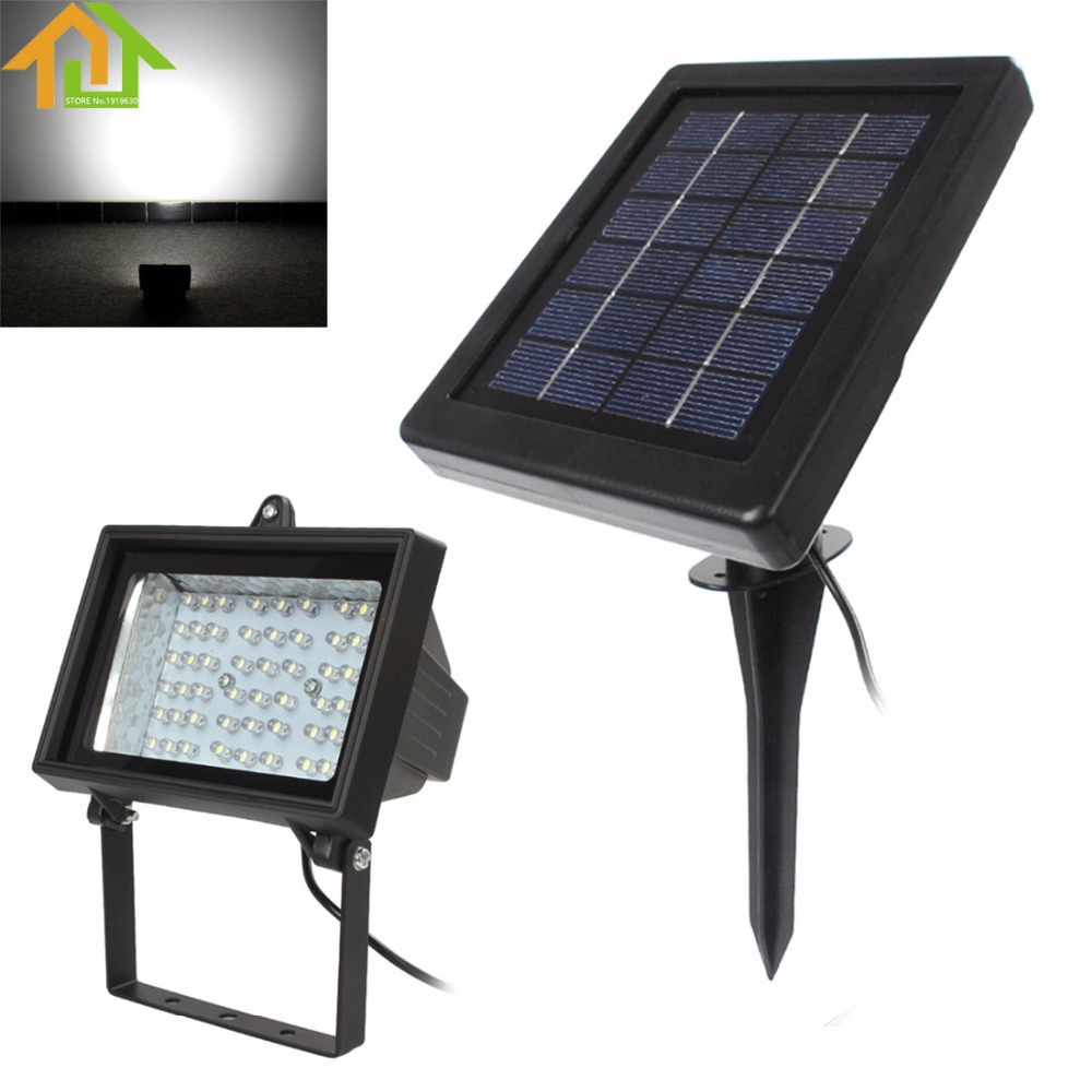Outdoors Garden 2 2W 54 x Ultra White LEDs Lamp Rechargeable Solar Panel
