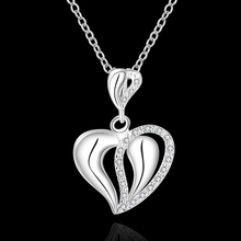 High Quality retail cheap Woman Silver Necklace Jewelry Gem Zircon N609