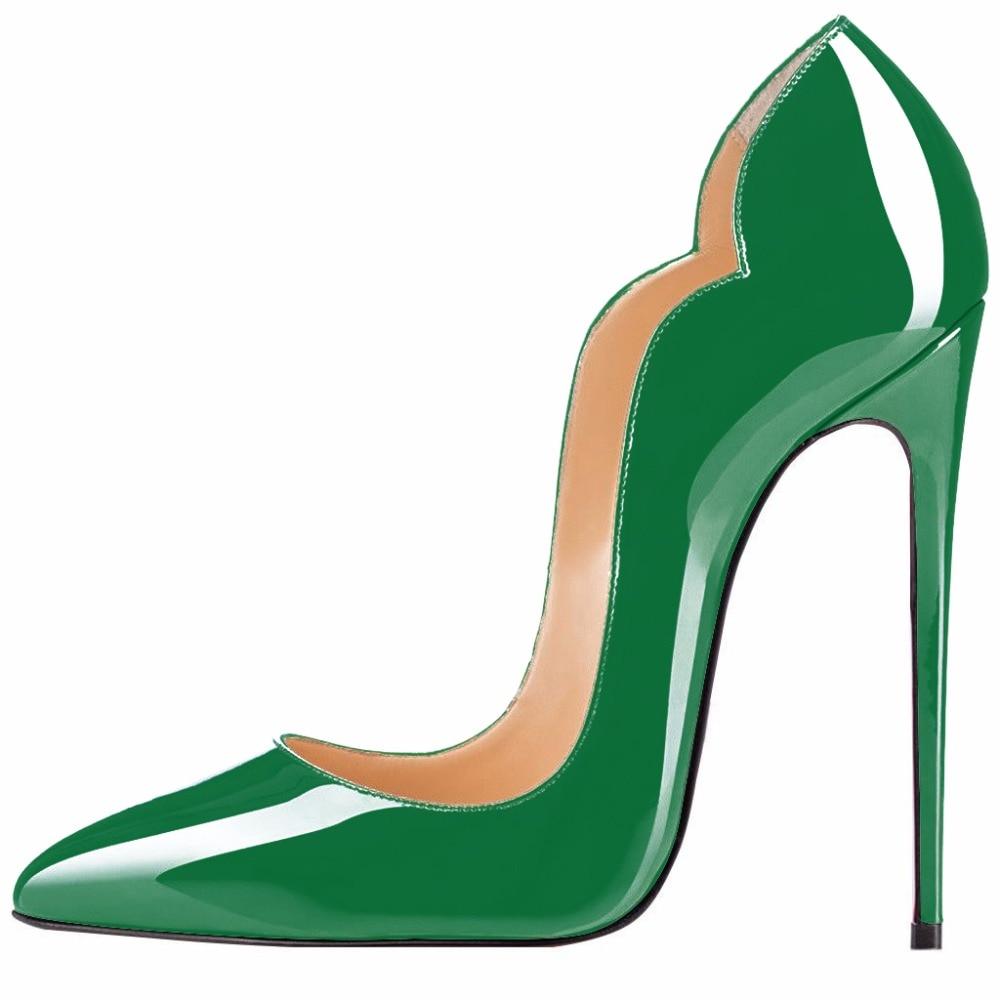 e8416e5130dd95 Schuhe Patent Shofoo Elegante grün gelb akt Schuhe Spitz Pumpen Ferse Hohe  Cm Mode Schwarzes Frauen 11 Freies S Leder ...