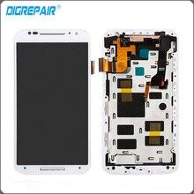 Blanco Para Motorola Moto X2 Xt1092 Xt1095 Xt1097 Pantalla LCD de Pantalla Táctil con el Conjunto Del Bastidor Del Bisel Del Digitizador de piezas de Repuesto
