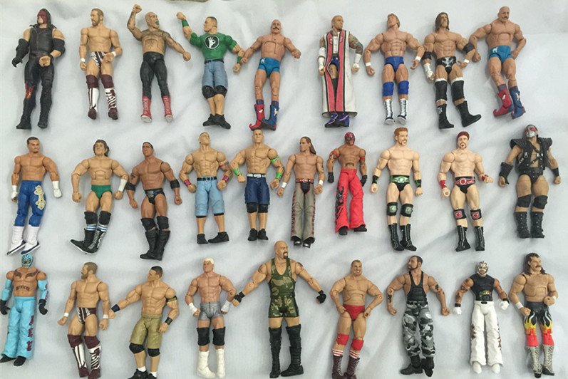 10pcs/lot different characters occupation wrestling gladiators wrestler action figure toy Collection movable joint figure model