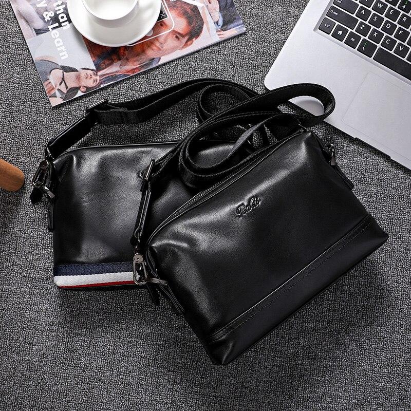 BAQI Brand Men Handbags Shoulder Bag 2019 Fashion Genuine Leather Cowhide High Quality Men Crossbody Messenger Bags Casual Bag