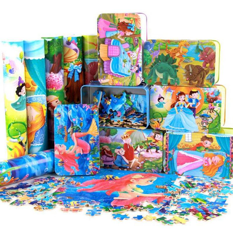 200pcs / box Cartoon 3D Puzzle avec Iron Box pour enfants Jigsaw - Jeux et casse-tête - Photo 5