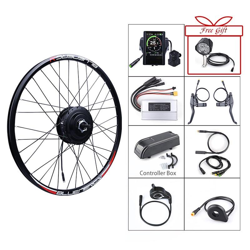Bafang 48V 500W Electric Bicycle Gear Hub Motor Rear Wheel Drive EBike Conversion Kit For DC Cassette Flywheel Engine E-Bike Kit