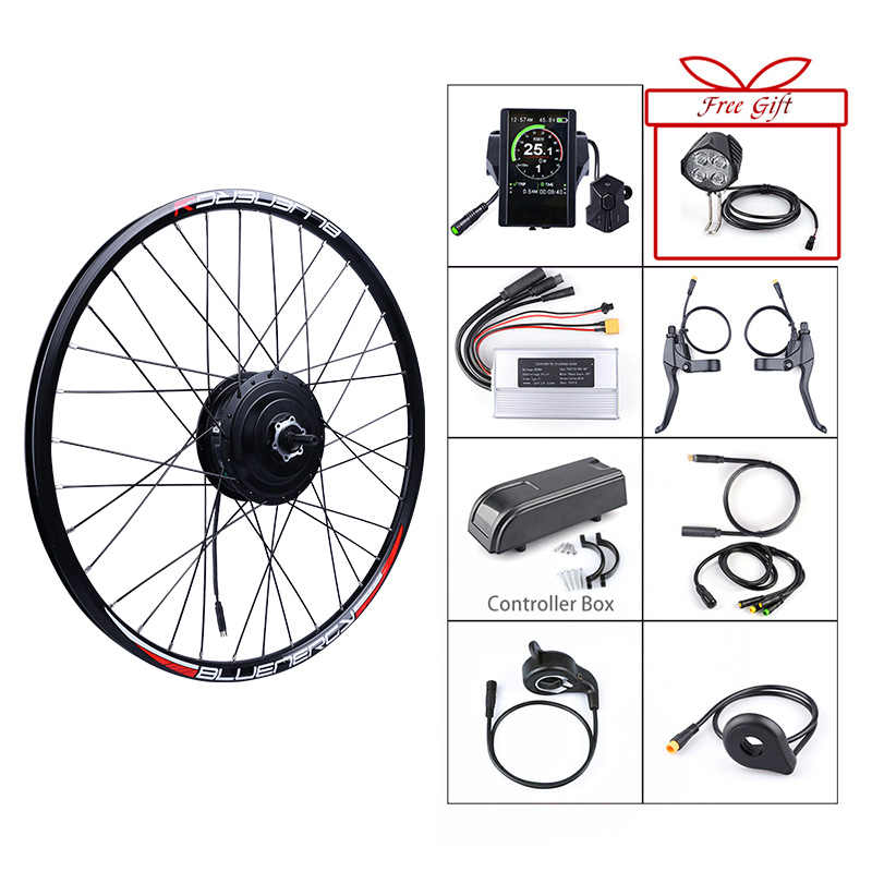 Bafang 48V 500W Electric Bicycle Gear Hub Motor Rear Wheel Drive Electric Bike Conversion Kit for Cassette & Freewheel eBike Kit