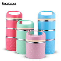 GXYAYYBB Portable Cute Mini Japanese Bento Box Leak Proof Stainless Steel Thermal Lunch Boxs Kids Picnic