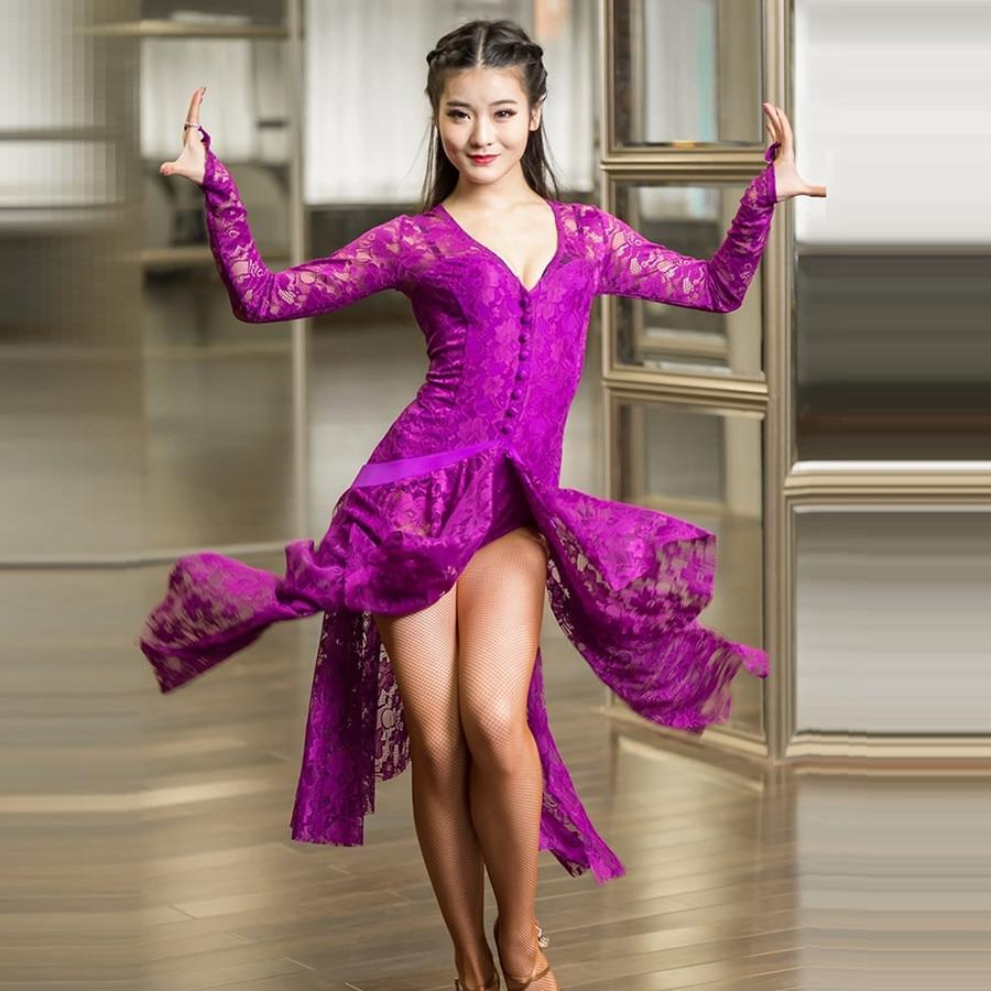 Blacck Danza Latina salón de baile Tango vestidos rumba vestido de ...