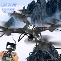 NEW large RC aerial Gimba drone Q303 2.4G 4CH 6 Axis 5.8G FPV RC Quadcopter Helicopter RTF can with 2.0MP or 1080P Camera VS k70