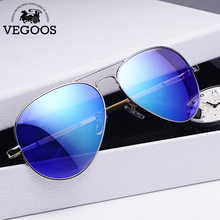 VEGOOS Men Polarized Sunglasses  Driving Sunglasses Stainless Steel Fr