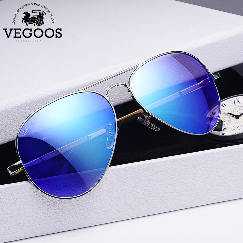 VEGOOS Men Polarized Sunglasses Driving Sunglasses Stainless Steel Frame Aviation Oculos De Sol Masculino Sun Glasses #3025M